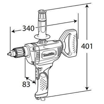 Дрель-миксер Makita DS 4011 - slide 4